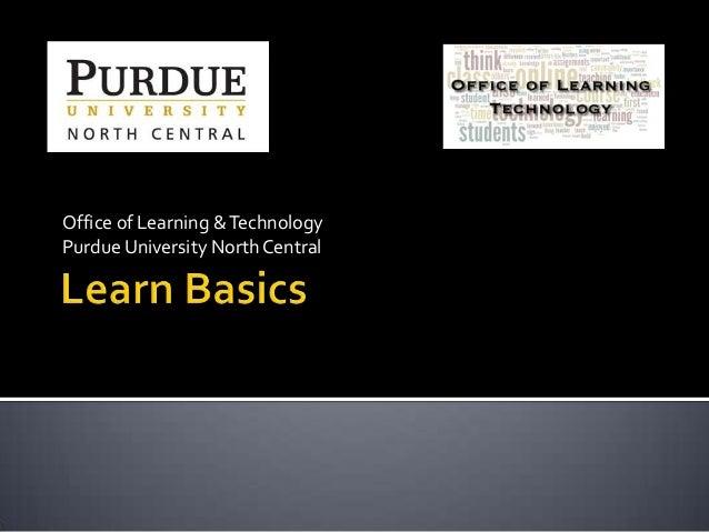 BlackBoard Learn Basics
