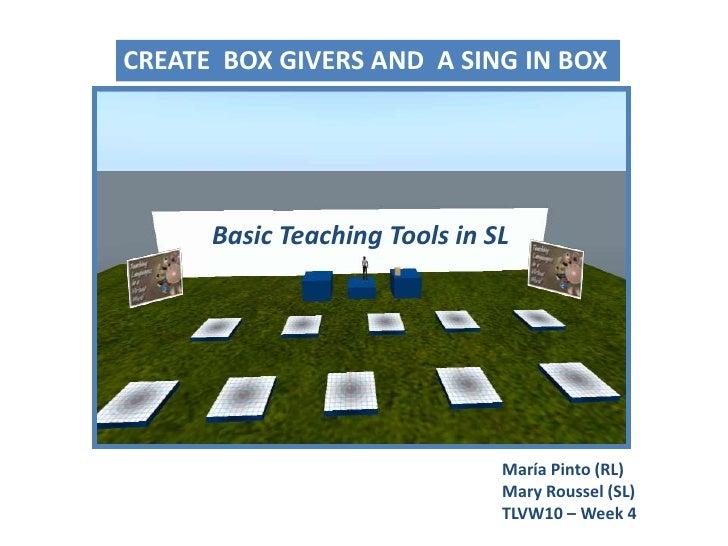 Basic Teaching Tools In SL - Workshop (2)
