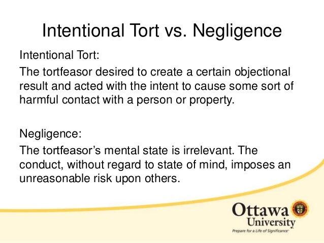 tort of negligence essay