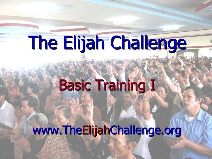 Elijah Challenge Training Powerpoint Slides