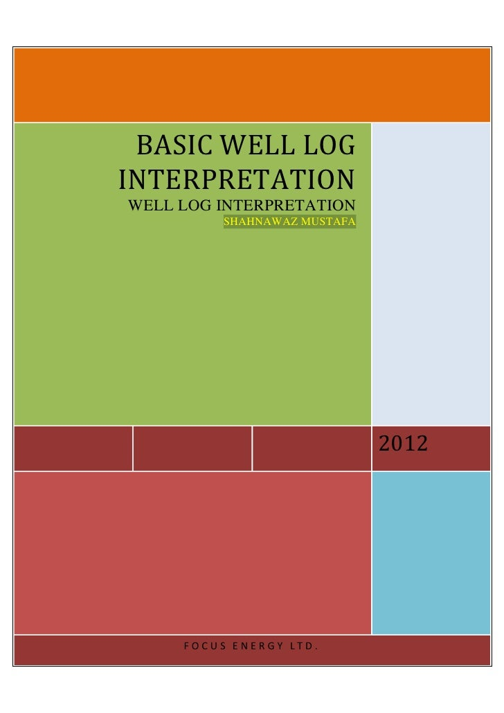 BASIC WELL LOGINTERPRETATIONWELL LOG INTERPRETATION          SHAHNAWAZ MUSTAFA                              2012     FOCUS...