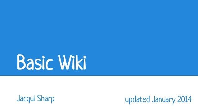 Basic wiki