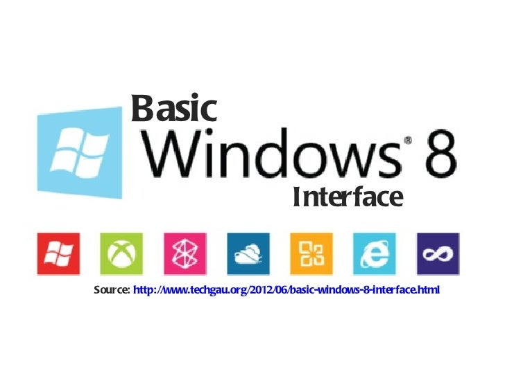 Basic                                       InterfaceSource: http://www.techgau.org/2012/06/basic-windows-8-interface.html