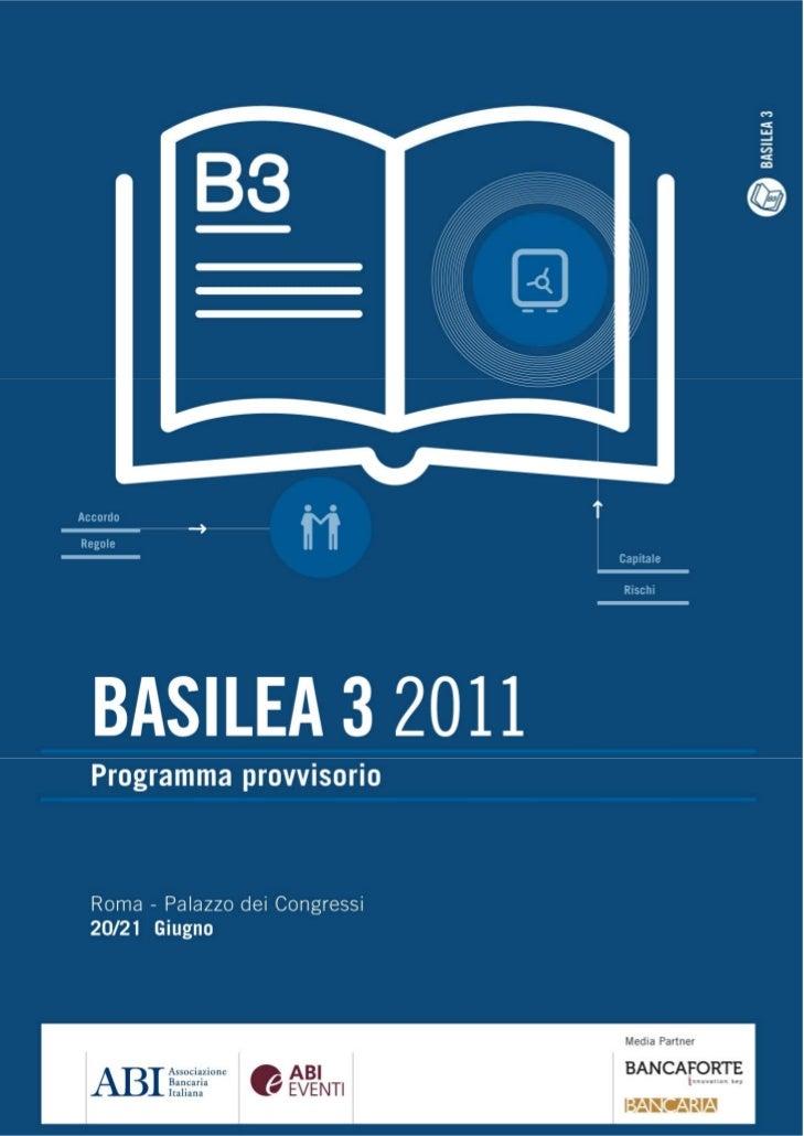 Basilea 3 2011 - Programma Provvisorio