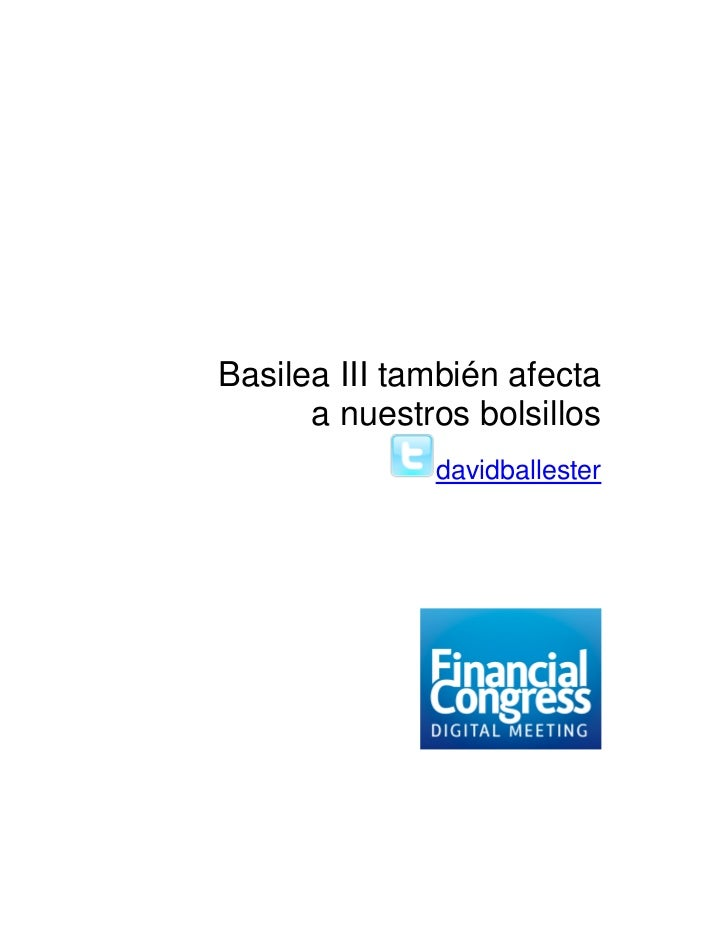 Más sobre Basilea III