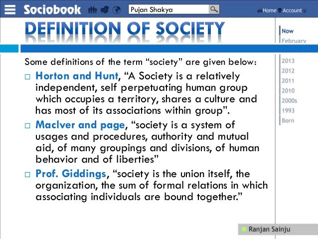 definition of basic concepts of sociology