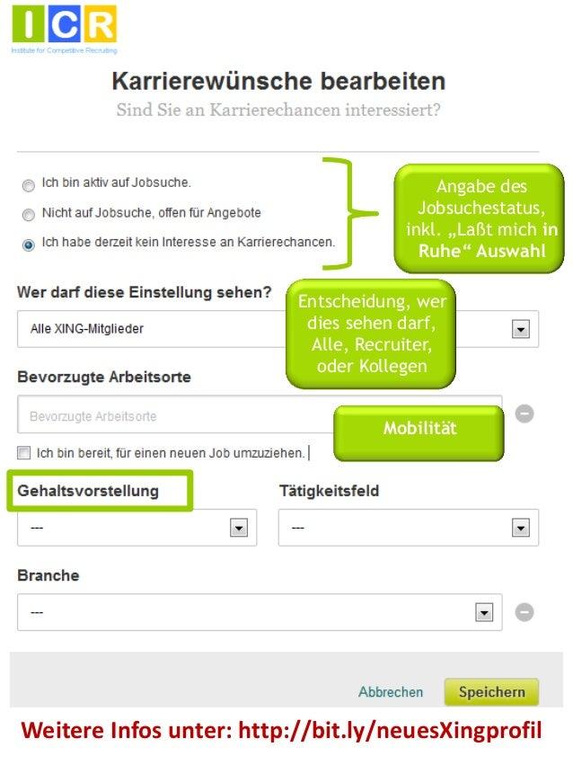 """Neues XING-Profil aus Recruiter-Sicht: Chancen und Möglichkeiten der """"Karrierewünsche bearbeiten"""" Seite"""
