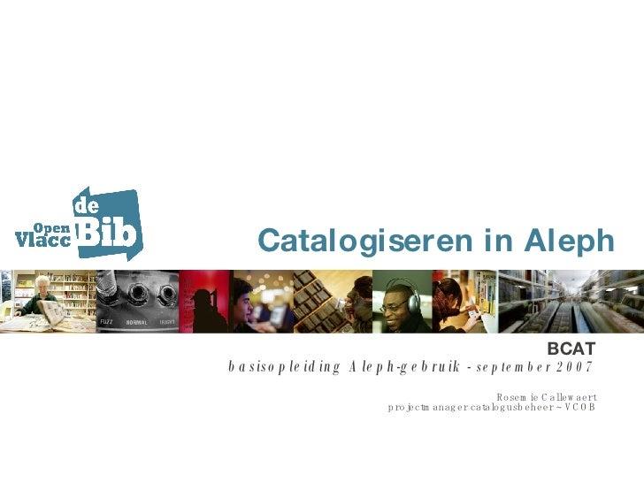 Basisopleiding Aleph-gebruik Open Vlacc (Rosemie Callewaert)