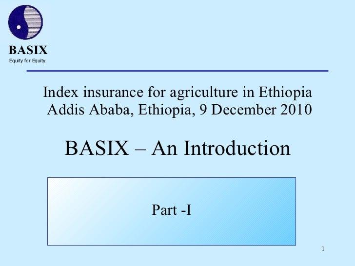 BASIX – An introduction
