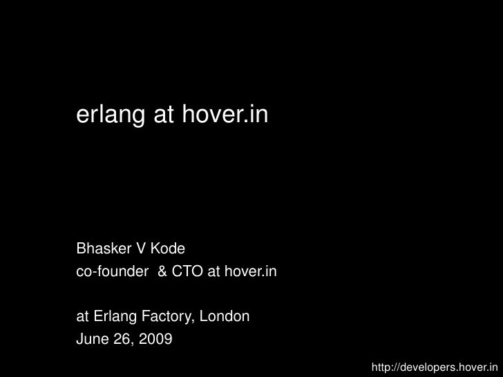 in-memory capacity planning, Erlang Factory London 09