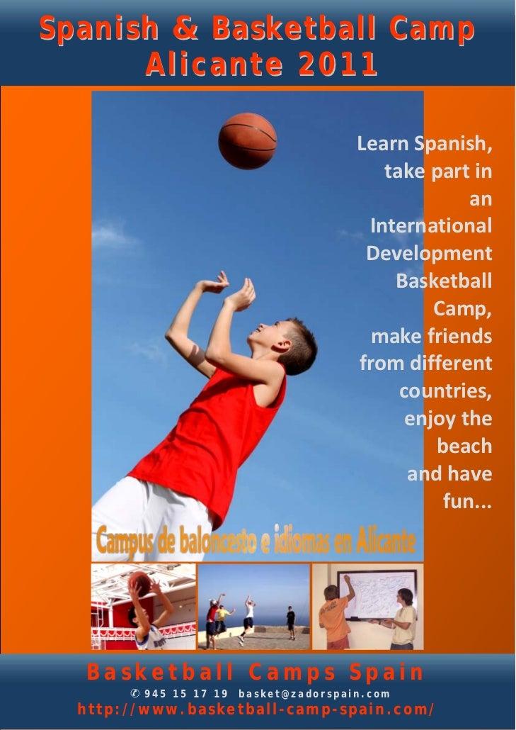 Spanish & Basketball Camp      Alicante 2011                                      LearnSpanish,                         ...