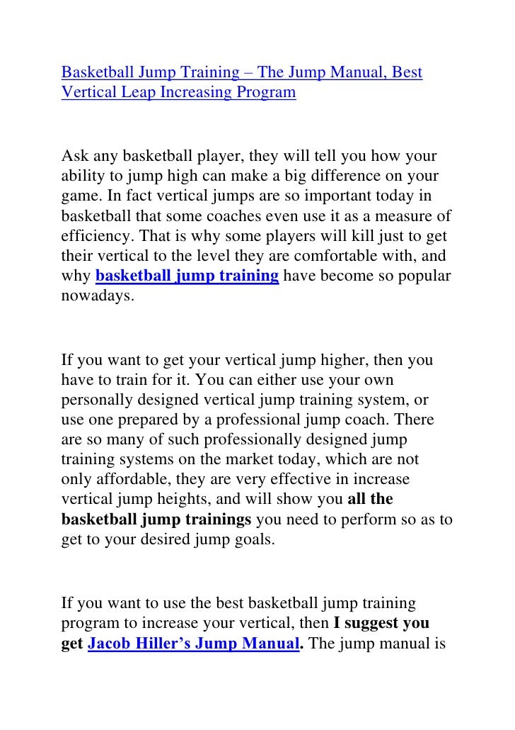 recent basketball related research the vertical jump essay The results showed that strength training affected the vertical jump performance   regardless of the recent investigation of the acute effects of strength training ( babault,  additionally, there is no research relating the acute effects of  combining both  in summary, it is possible that the higher physiological  stimulus and the.