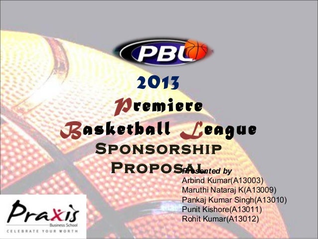 Basketball league sponsorship proposal for Sports team sponsorship proposal template
