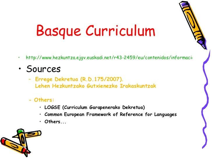 Basque Curriculum for languages