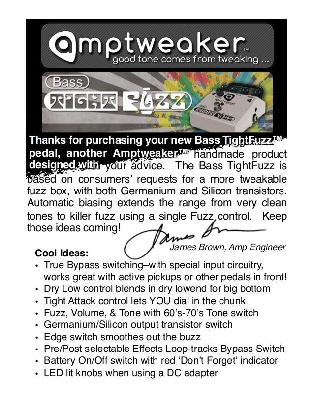 Amptweaker Bass Tight Fuzz gitarpazar manual kullanim klavuzu
