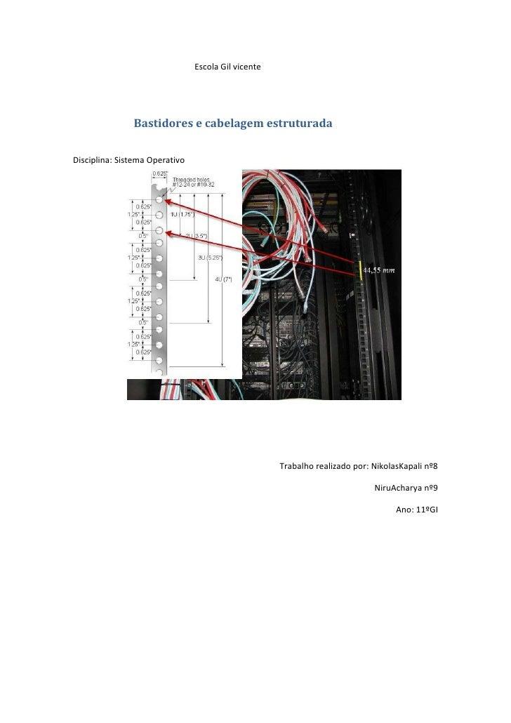 Escola Gil vicente               Bastidores e cabelagem estruturadaDisciplina: Sistema Operativo                          ...