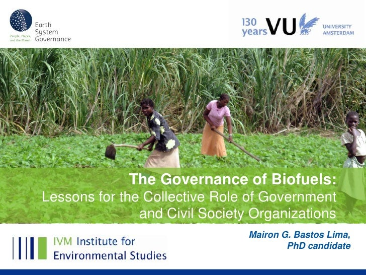 The Governance of Biofuels:Lessons for the Collective Role of Government               and Civil Society Organizations    ...