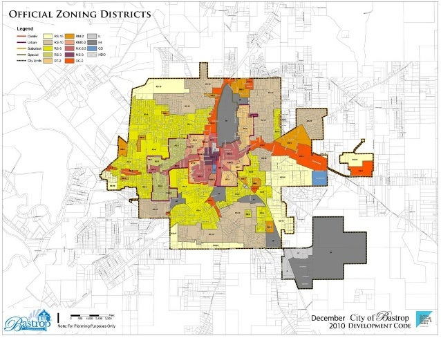 Bastrop zoning map