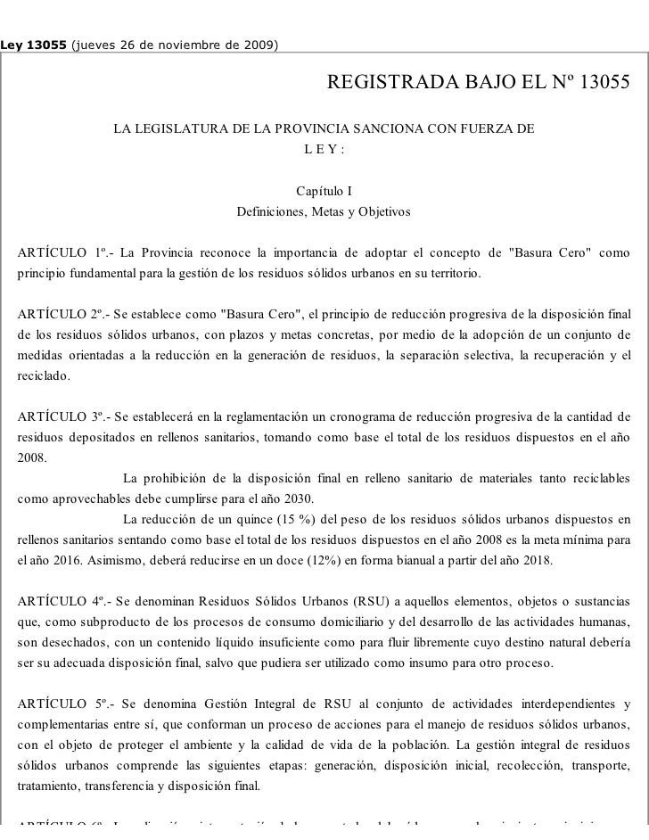Ley 13055 (jueves 26 de noviembre de 2009)                                                          REGISTRADA BAJO EL Nº ...