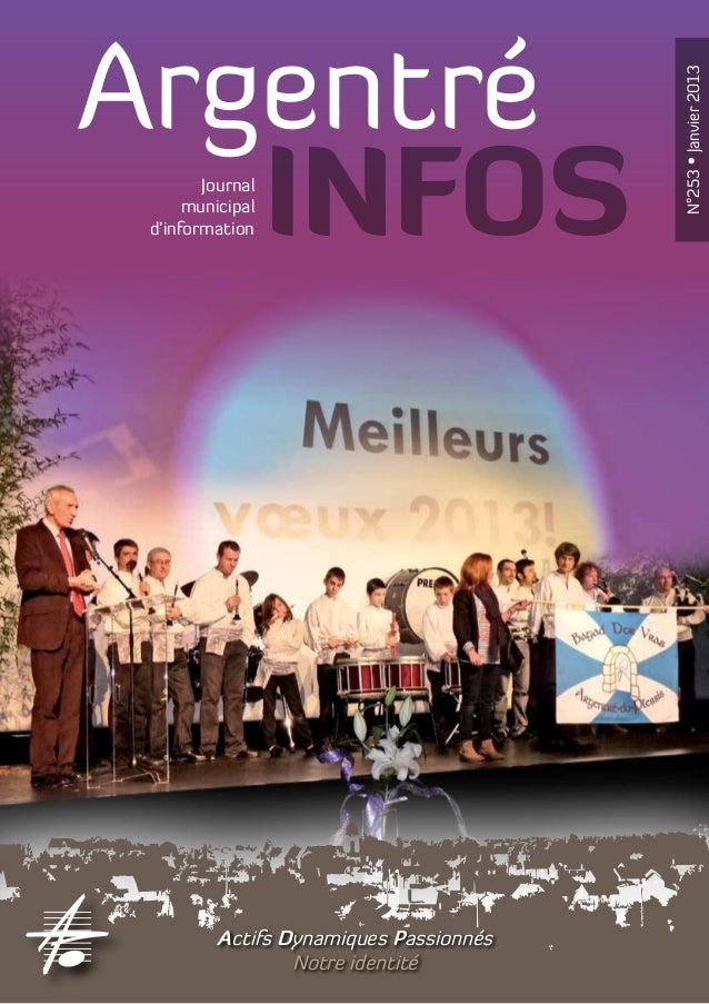Argentré                                         N°253 • Janvier 2013   INFOSJournal      municipal d'information         ...