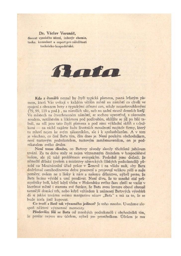 Baťa brožúra z 30. rokov