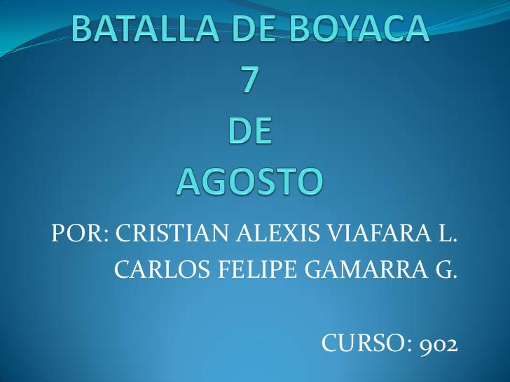POR: CRISTIAN ALEXIS VIAFARA L.     CARLOS FELIPE GAMARRA G.                    CURSO: 902