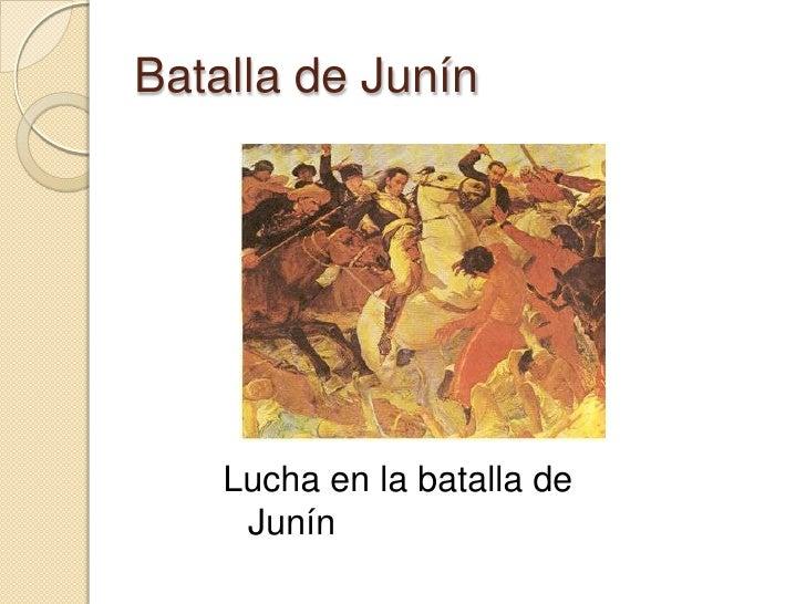 Batalla de Junín<br />Lucha en la batalla de Junín<br />