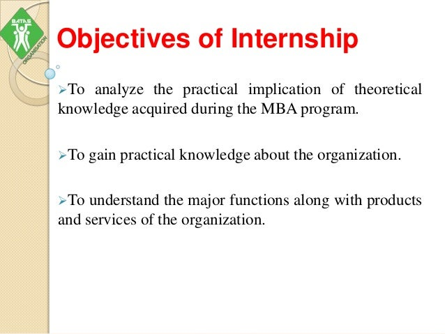 Mba Internship Ppt
