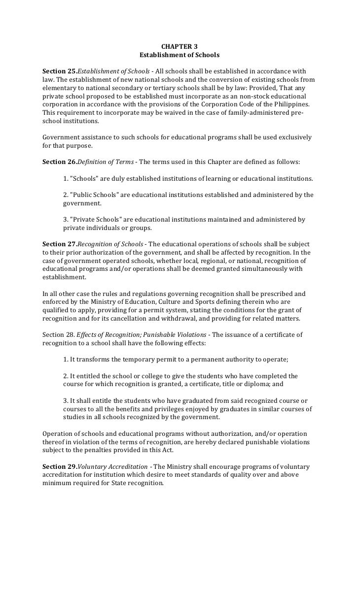 education act of 1982 remnant of Education the education act arrangement of regulations part i preliminary 1 short title 2 interpretation part 11 management wzd operation of public educational.