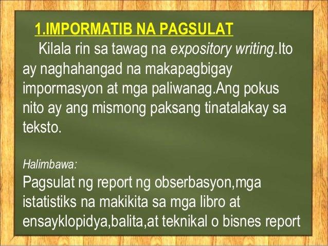 halimbawa ng referensyal na pagsulat Ito ay uri ng pagsulat na naglalayong magrekomenda ng iba pang reperens o sors hinggil sa isang paksa.