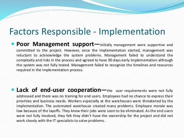 project management a case study of a successful erp implementation Success of the implementation project after surveying the literature landscape on change (erp) systems, change management, case study, aladwani's.