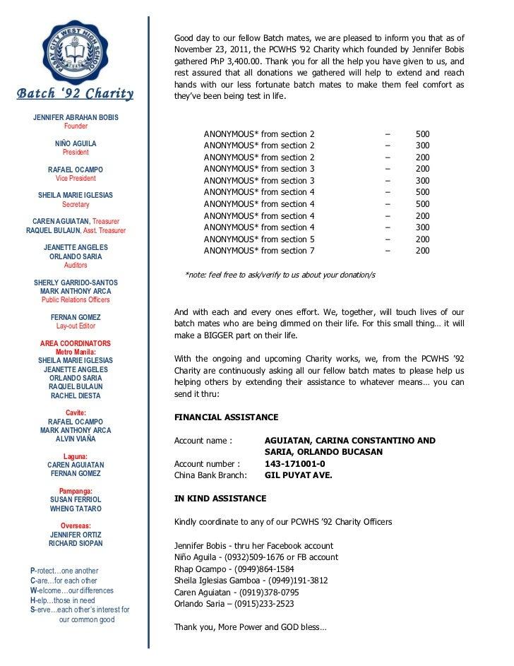 Batch'92 charity  nov.23'11