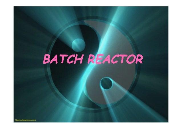 BATCH REACTOR