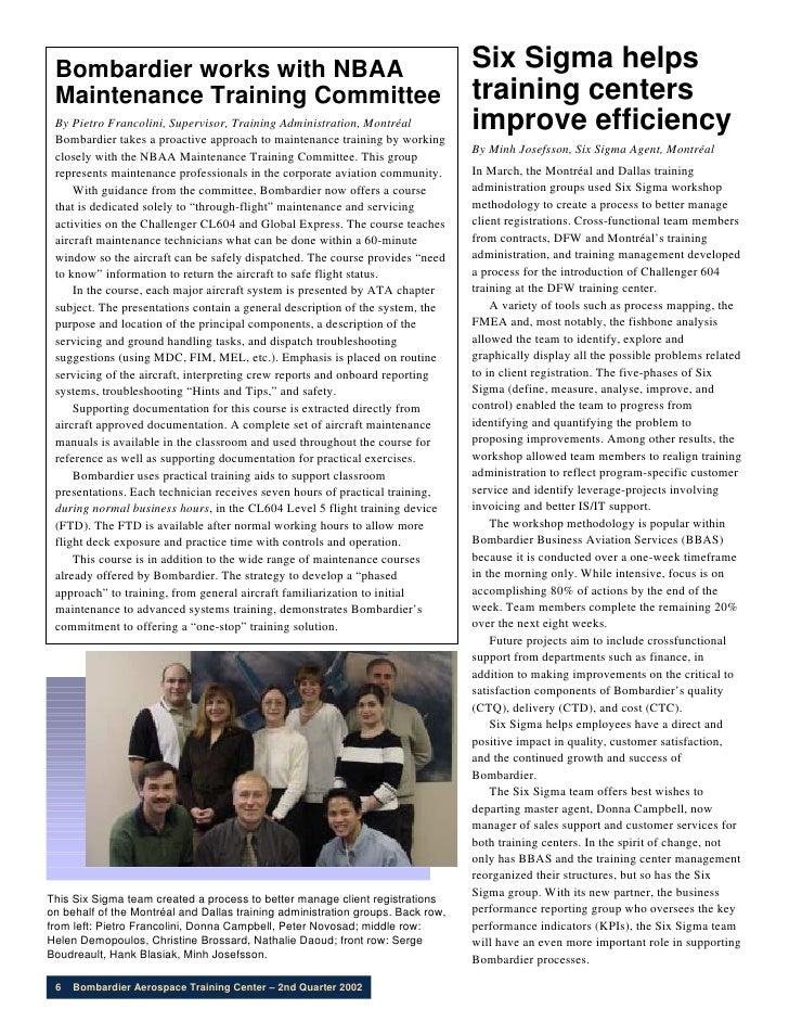 6Sigma in BATC Training newsletter