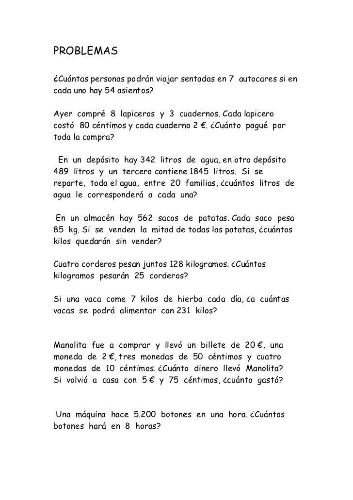 Batería de problemas (recopilación)