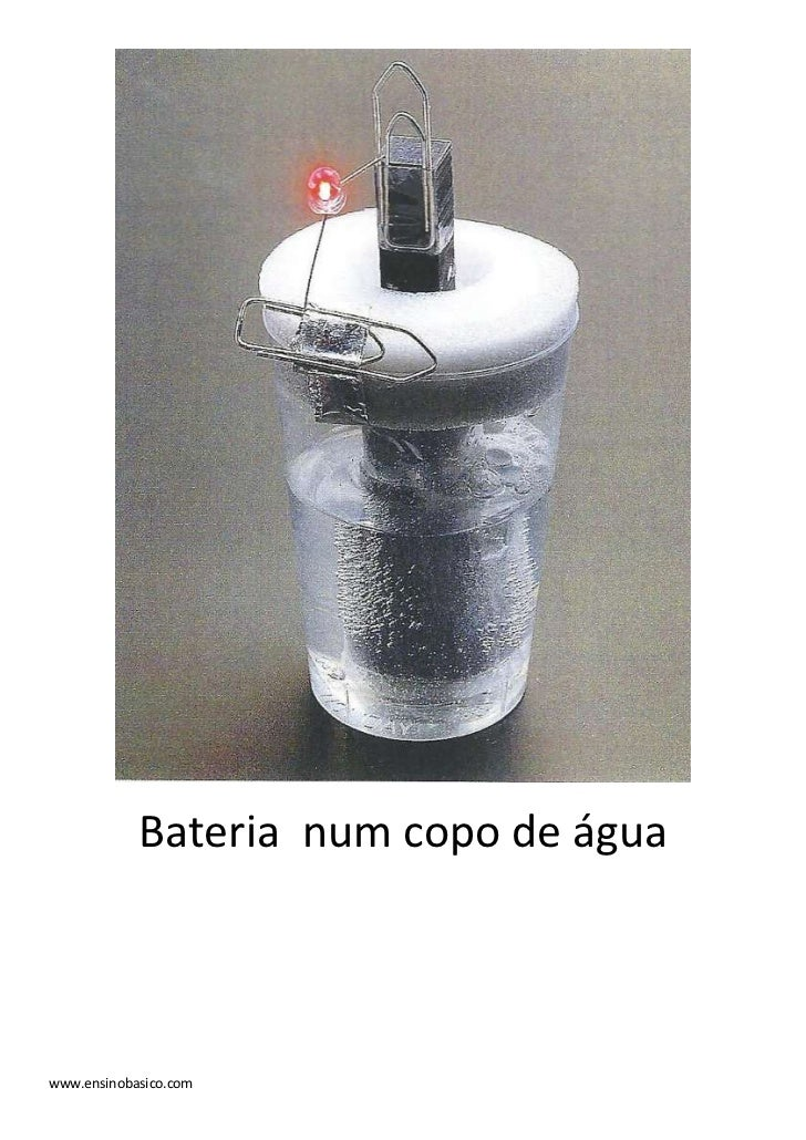 Bateria num copo de águawww.ensinobasico.com