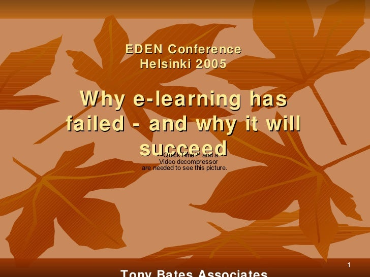 Why e-learning has failed - and why it will succeed