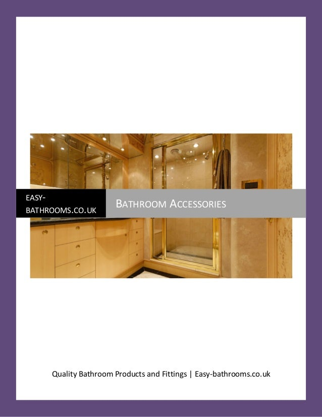 Bathroom supplies pdf