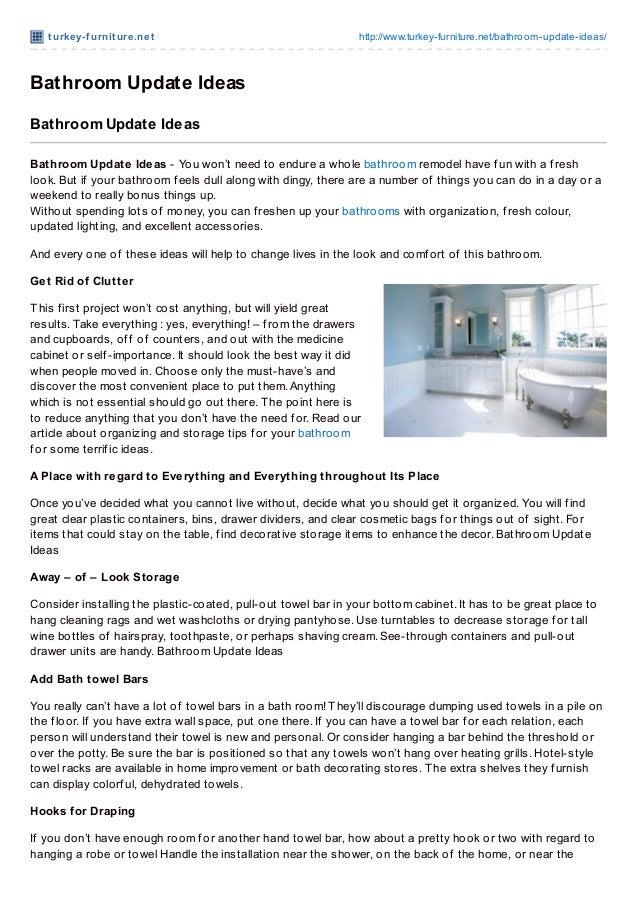 t urkey-f urnit ure.net http://www.turkey-furniture.net/bathroom-update-ideas/Bathroom Update IdeasBathroom Update IdeasBa...