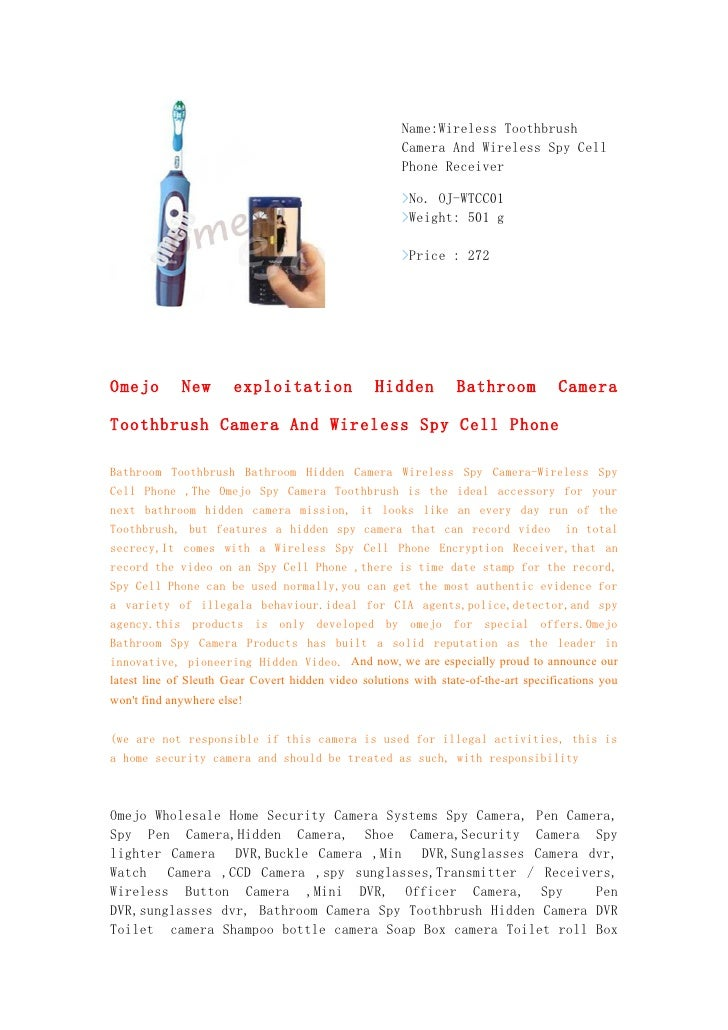 Name:Wireless Toothbrush                                                       Camera And Wireless Spy Cell               ...