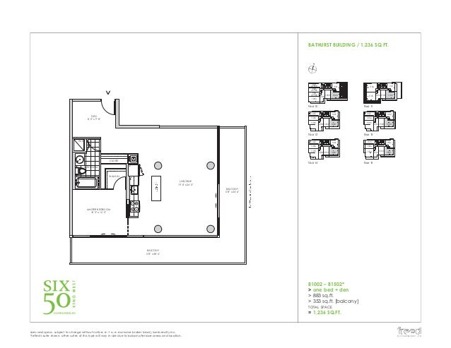 Six50 king west condos 650 king west condos toronto for 1 king west floor plans