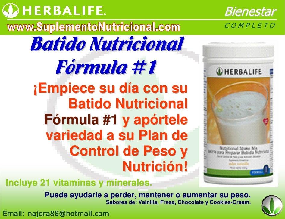 Batido Nutricional Herbalife