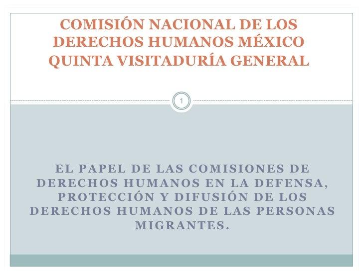 Papel de Comisión de Derechos Humanos para Migrantes