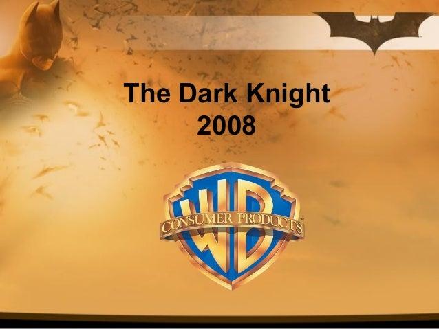 Batman dark knight intl presentation