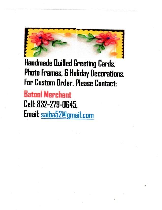 Batool's card