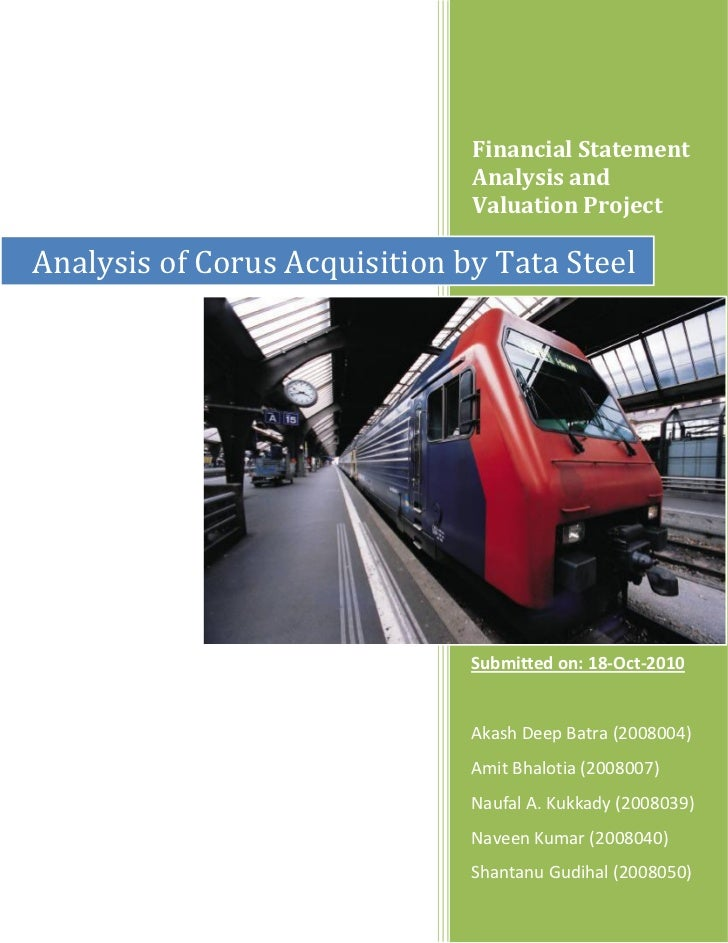 Analysis of corus acquisition by tata steel