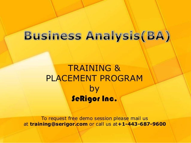 Busines Analyst training and Placement Program