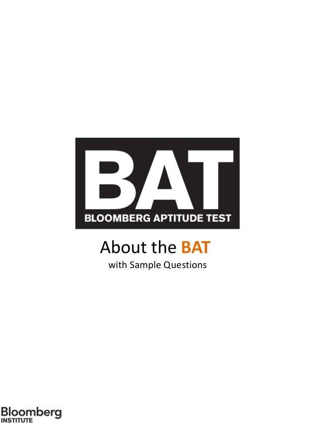 Bat sample questions