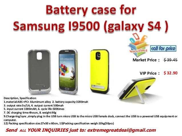 Battery case for samsung i9500 plus recharging backup battery case for iphone5 and 4 s