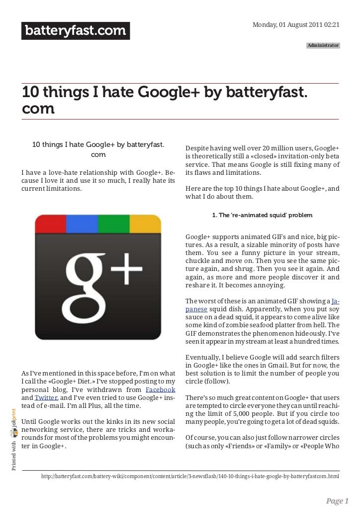 batteryfast.com-10 things I hate Google+ by batteryfast.com